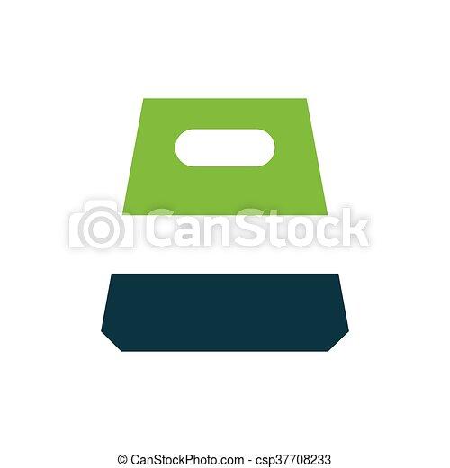 design paper bag icon green - csp37708233