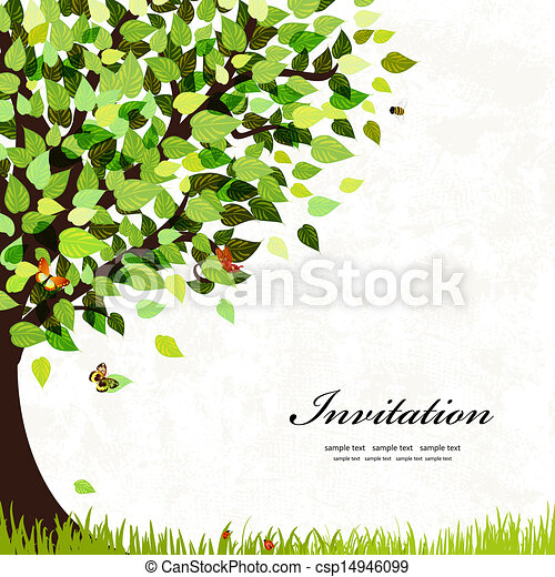 Design postcard with a tree - csp14946099