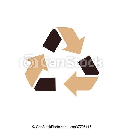design Refresh Icon brown color - csp37708118