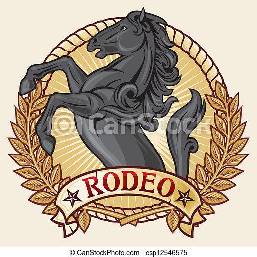 design), (rodeo, rodeo, etiqueta - csp12546575
