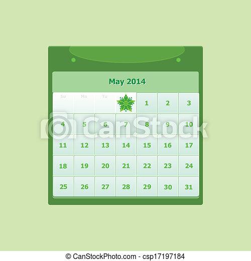 May 2014 Calendar Clipart