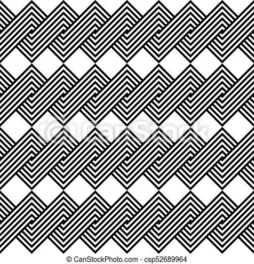 Design seamless monochrome spiral twisted pattern - csp52689964