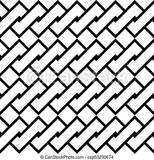 Design seamless monochrome spiral twisted pattern - csp53230674