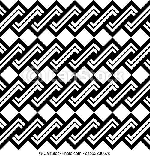 Design seamless monochrome spiral twisted pattern - csp53230678