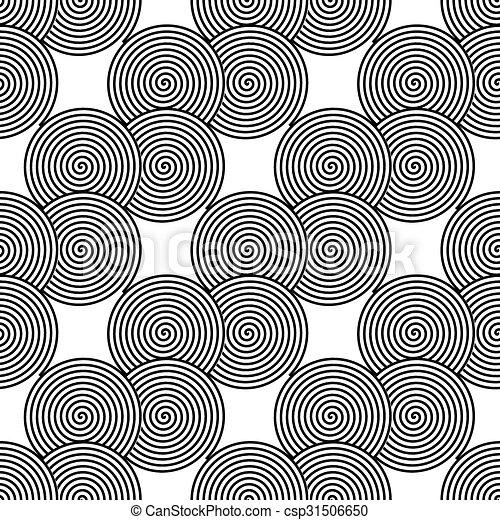 Design seamless monochrome spiral twirl pattern - csp31506650