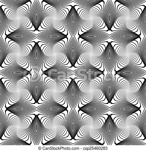 Design seamless monochrome whirl lines background - csp25460283