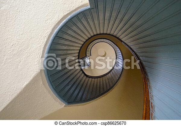 Design spiral staircase, architectural shape - csp86625670