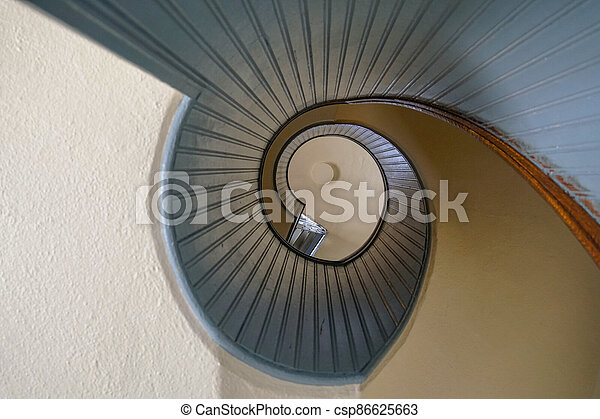 Design spiral staircase, architectural shape - csp86625663
