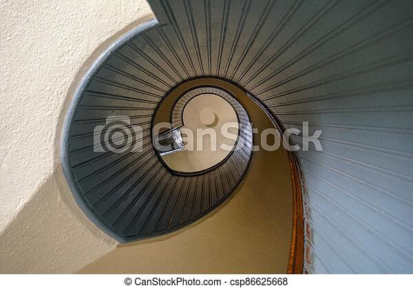 Design spiral staircase, architectural shape - csp86625668