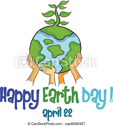 Design style happy earth day - csp46560457