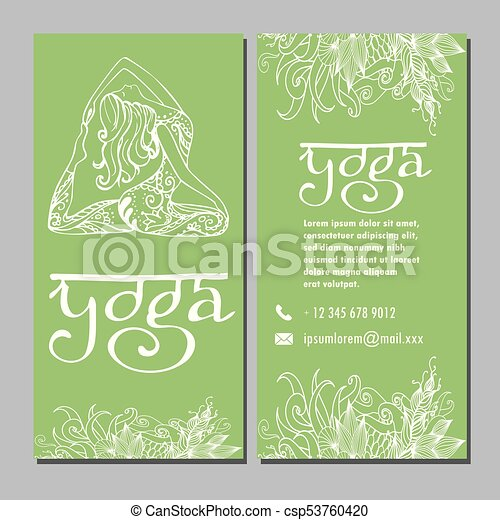 Design template for yoga studio business card design template for design template for yoga studio business card csp53760420 stopboris Gallery