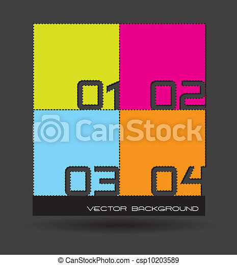 design template numbered - csp10203589