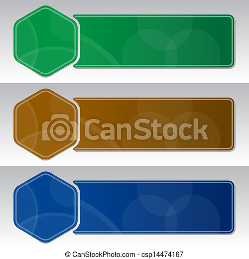 Design template with three banners - csp14474167