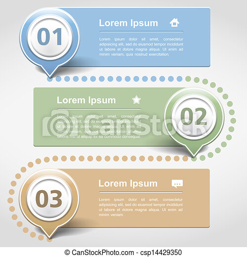 Design template with three banners - csp14429350