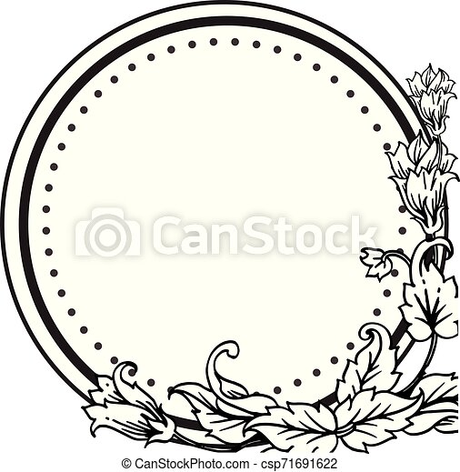 Design Unique Drawing Flower Frame For Template Of Invitation Card Wallpaper Vector