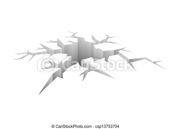 Design Vector Crack  - csp13753704