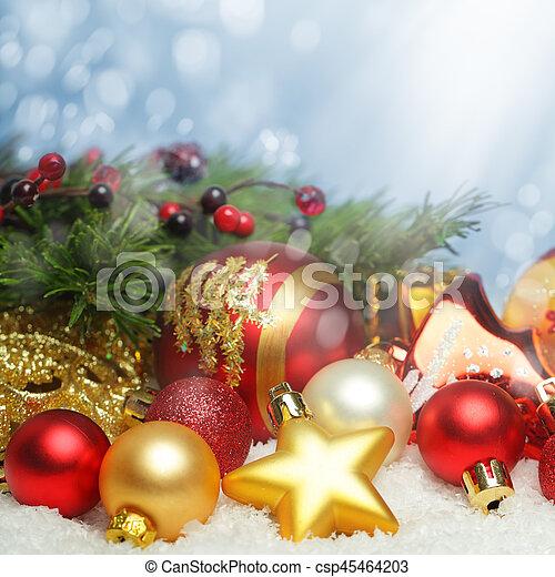 design, weihnachten, hintergrund - csp45464203