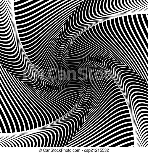 Design whirlpool movement illusion background - csp21215532