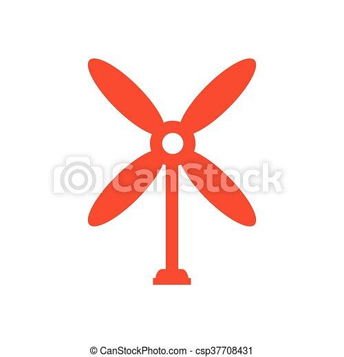 design wind turbine icon orange - csp37708431