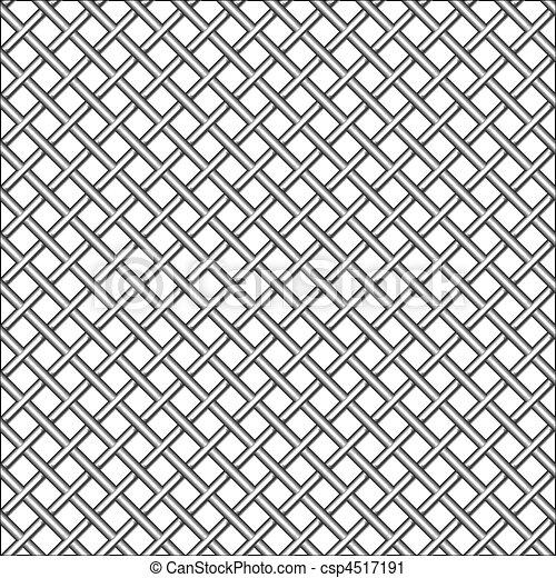 design with metallic realistic mesh - csp4517191