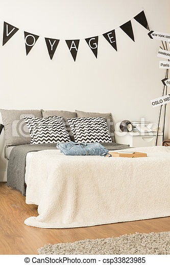 Designed bedroom for young voyager - csp33823985