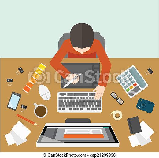 Designer management workplace - csp21209336