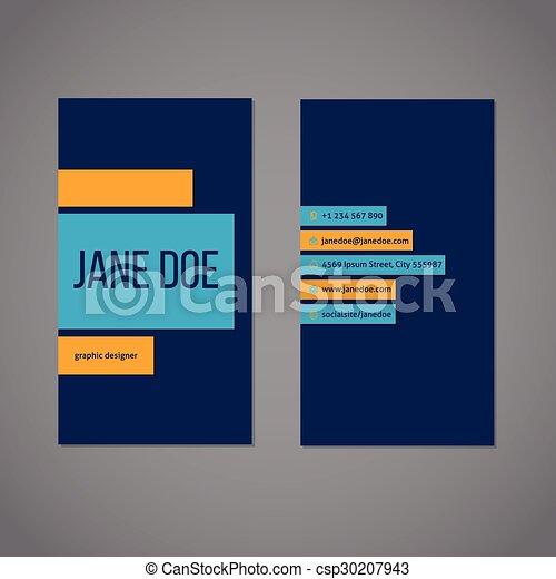 Designer simplistic business card template design with stripes designer simplistic business card template csp30207943 colourmoves