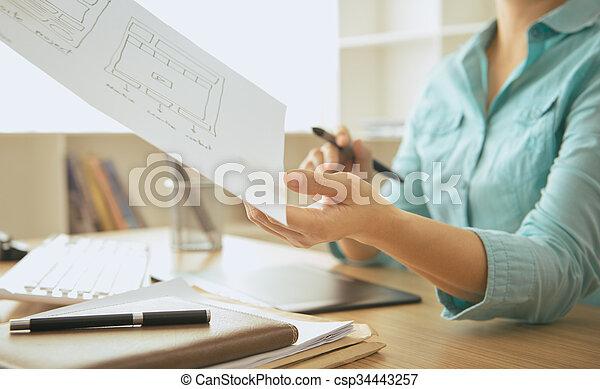 designer, web - csp34443257