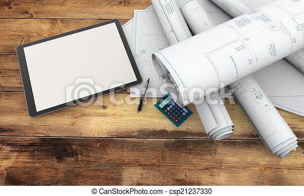 designer working tools - csp21237330
