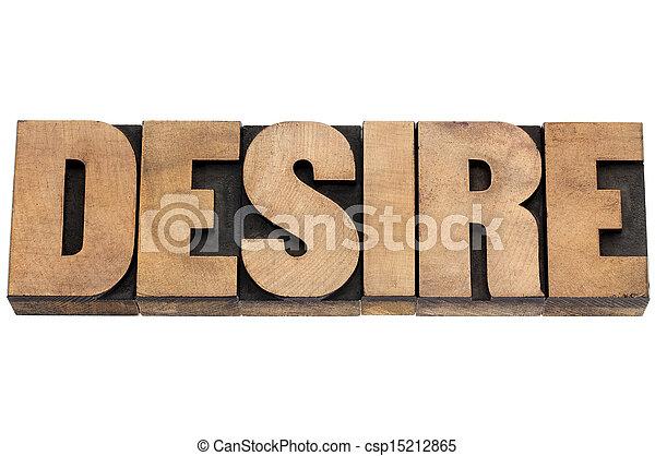 desire word in wood type - csp15212865