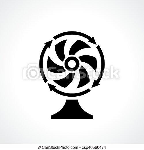 Desk Fan Ventilator Icon Desk Fan Ventilator Vector Icon
