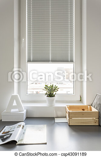 Desk in modern room - csp43091189