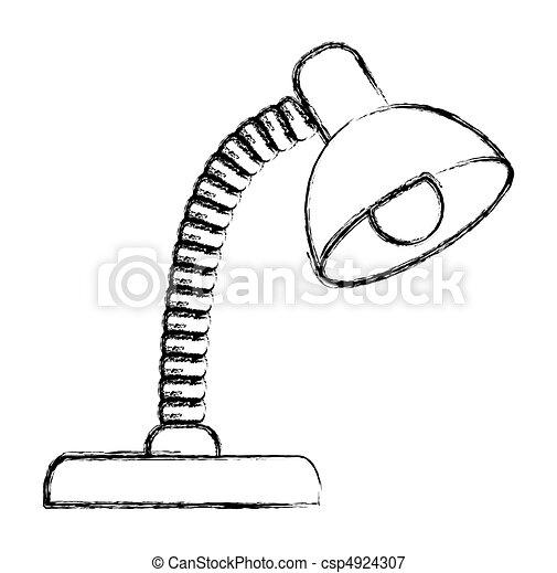 Desk lamp illustration - csp4924307