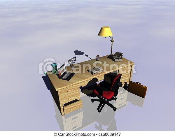 Desk reflecting. - csp0089147
