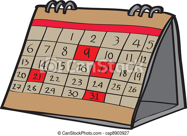 Royalty Free September Calendar Clip Art, Vector Images ...