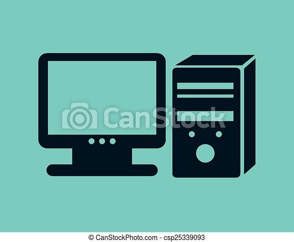 desktop computer  - csp25339093