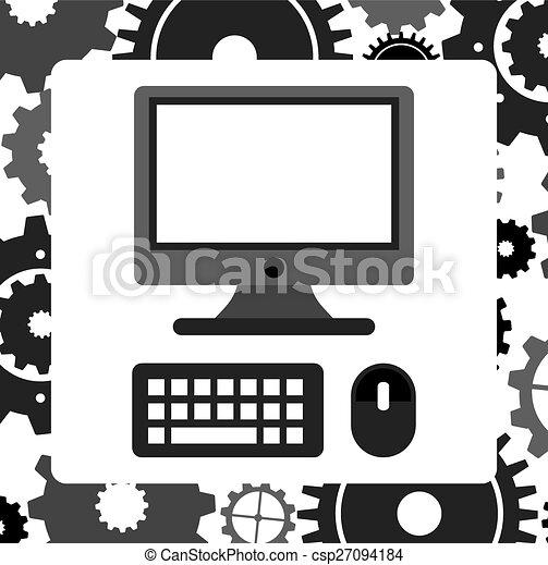 desktop computer  - csp27094184