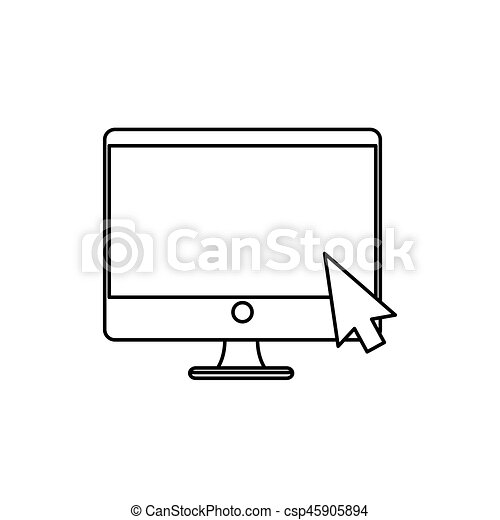 desktop computer isolated icon - csp45905894