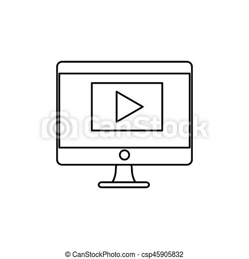 desktop computer isolated icon - csp45905832