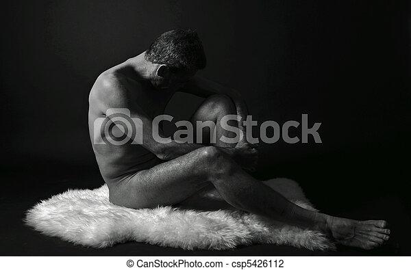 desnudo, hombre - csp5426112
