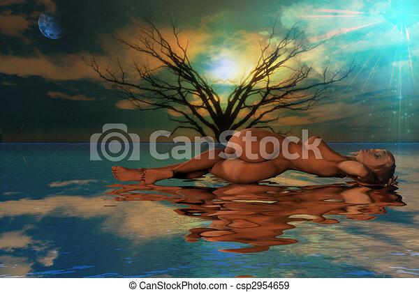 Reclinación desnuda - csp2954659