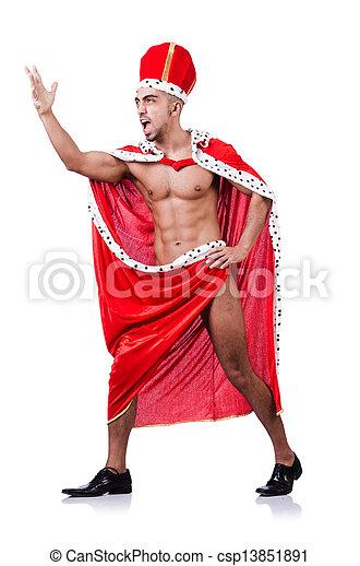 Rey desnudo aislado en el blanco - csp13851891