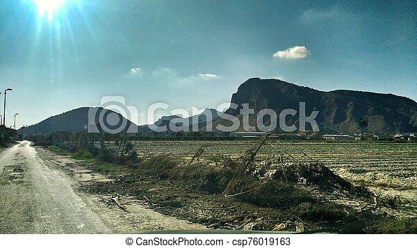 desolated, 風景, 洪水, orihuela - csp76019163