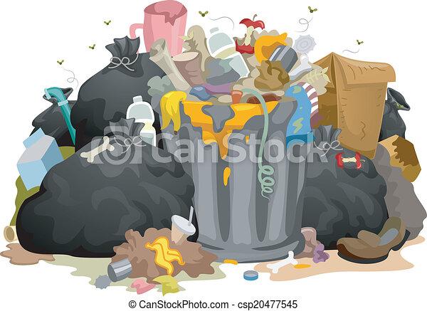 Bolsas de basura desordenadas - csp20477545