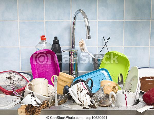Cocina desordenada - csp10620991