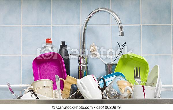 desordenado, cocina - csp10620979