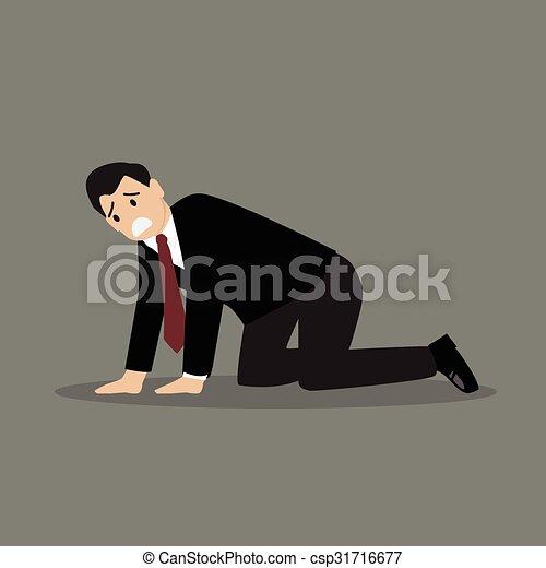 Desperate businessman - csp31716677