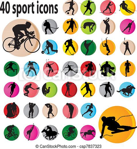 desporto, ícones - csp7837323