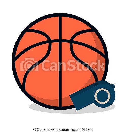 desporto apito bola desenho basquetebol vetorial basquetebol