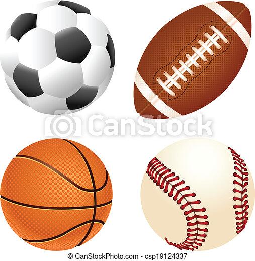 desporto, bolas - csp19124337